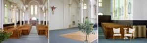 Intérieur de l'église Photo : Mike Steinhauer Vaniernow.ca (21 juillet 2012)