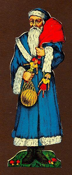 En 1900, le père Noël en France conserve une robe longue.