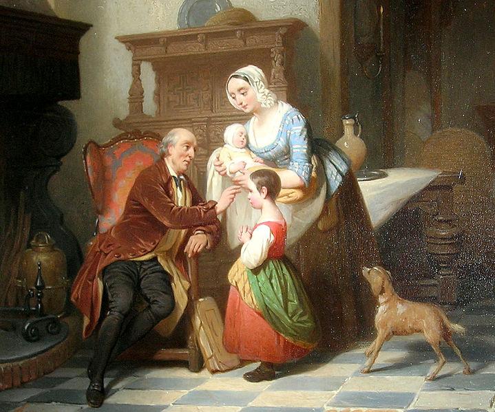 Bénédiction paternelle, n.d. Aloïs Hunin (Belgique)