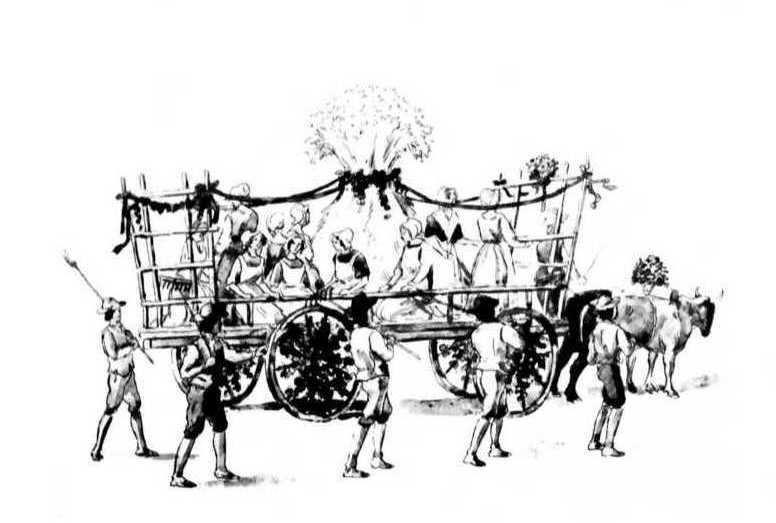 La Grosse gerbe. Les costumes anciens favorisent à la fois une affiliation avec les ancêtres et une rupture avec le passé.