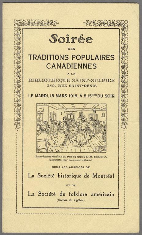 Programme, soirée de folklore inaugurale, 1919
