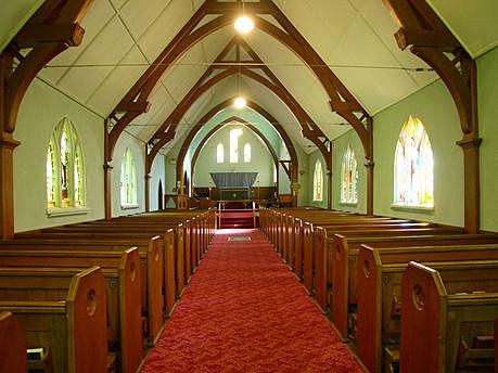 L'intérieur de l'église Saint-James the Less Photo : Conseil patrimoine religieux du Québec