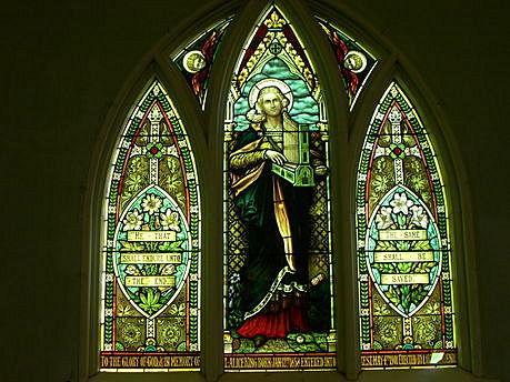 L'un des magnifiques vitraux de l'église Photo : Conseil patrimoine religieux du Québec