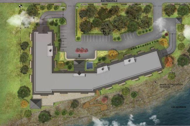 Vue aérienne du projet. esquisse : Journal Le guide, novembre 2015