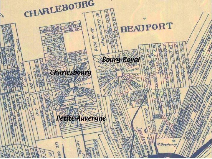 La rue du Vignoble se trouve dans l'ancien secteur Bourg Royal. Photo : Société d'histoire de Charlesbourg