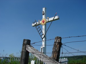 Croix de chemin traditionnelle. Photo : Henri Giroux, 2008